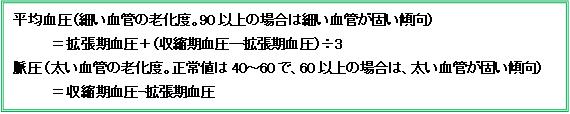 血管年齢 表1