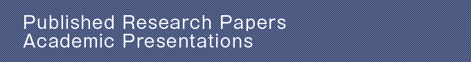 Published Research Papers Academic Presentations